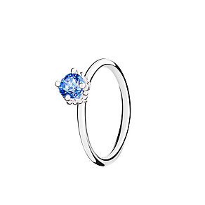 Chamilia Diva Solitaire blue zirconia ring size P - Product number 3031055