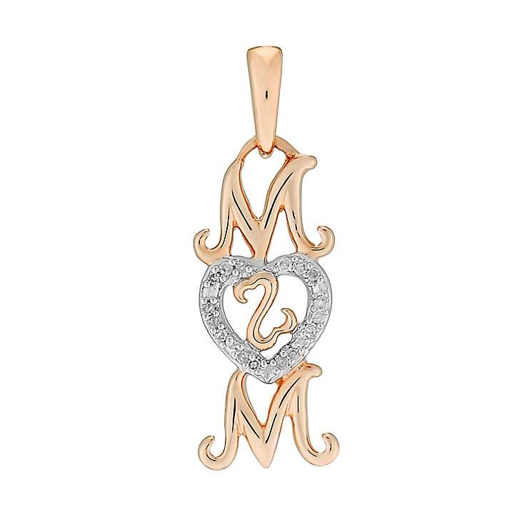 Open Hearts Family By Jane Seymour Gold Diamond Mum Charm - Product number 3031144