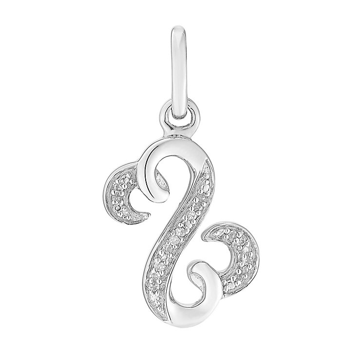 Open Hearts By Jane Seymour Sterling Silver & Diamond Charm - Product number 3031152