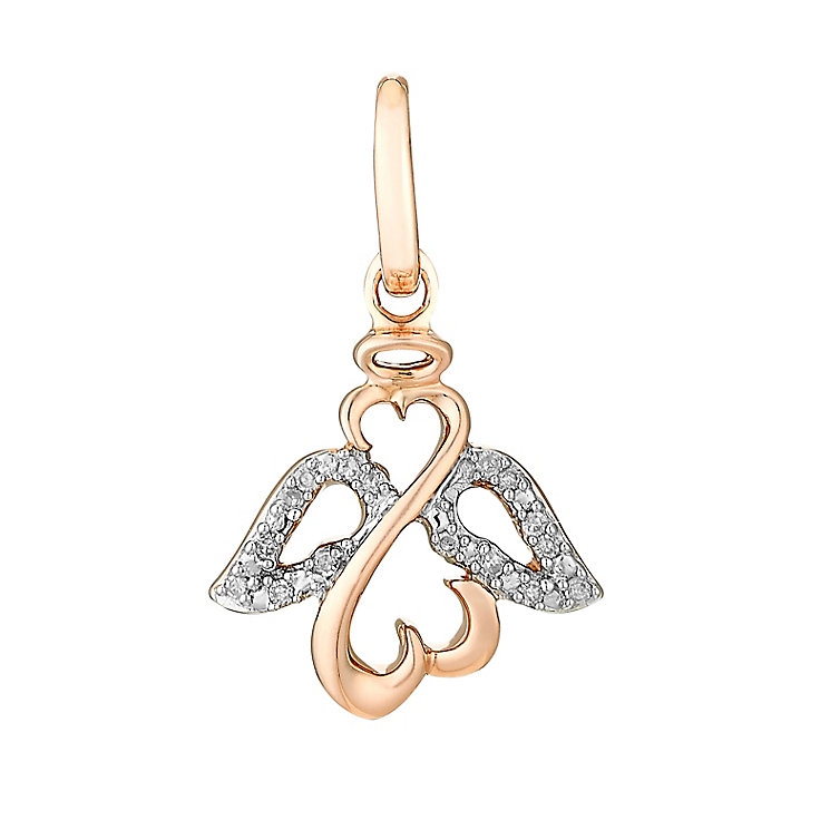 Open Hearts Angels By Jane Seymour Rose Gold Diamond Charm - Product number 3031160