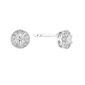 The Forever Diamond 9ct White Gold Halo Diamond Earrings - Product number 3031888