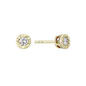 The Forever Diamond 9ct Gold Illusion Diamond Earrings - Product number 3031918