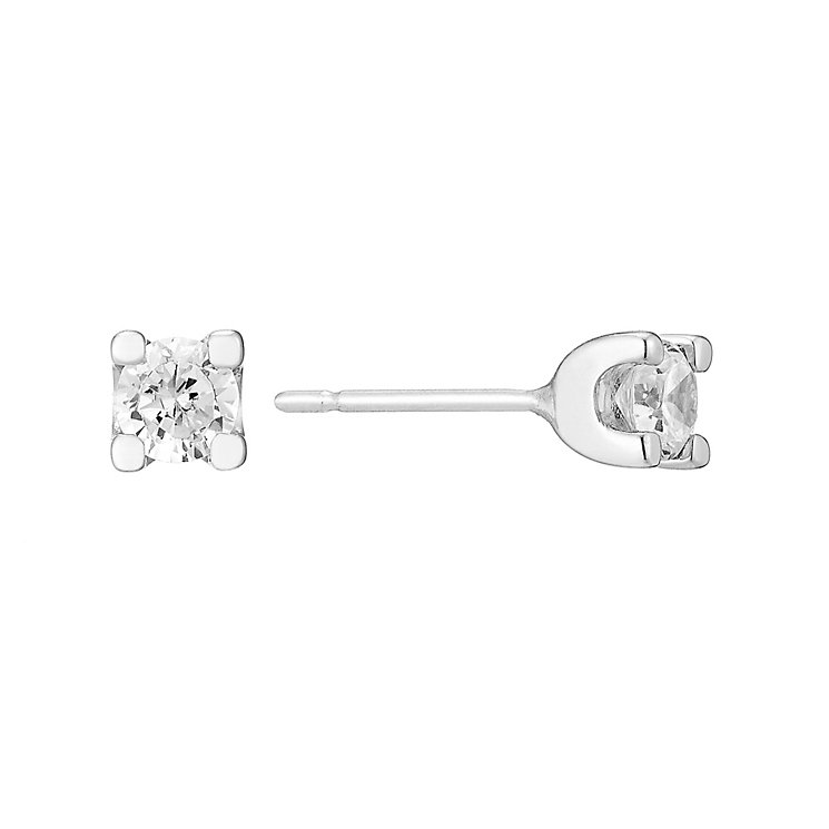 The Forever Diamond 18ct Gold Half Carat Diamond Earrings - Product number 3031942