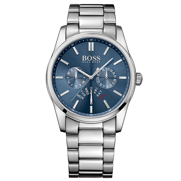 Hugo Boss men's stainless steel blue dial bracelet watch - Product number 3032450