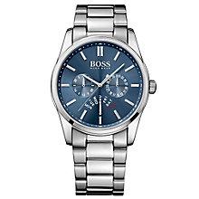 Hugo Boss men's stainless steel blue dial bracelet watch - Product number 3032450