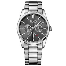 Hugo Boss men's stainless steel grey dial bracelet watch - Product number 3032469