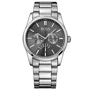 Hugo Boss men's stainless steel grey dial bracelet watch - Product number 3032469