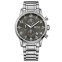 Hugo Boss men's stainless steel grey dial bracelet watch - Product number 3032574