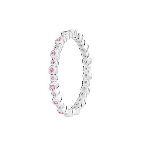 Chamilia Infinity pink Swarovski zirconia ring size P - Product number 3032590
