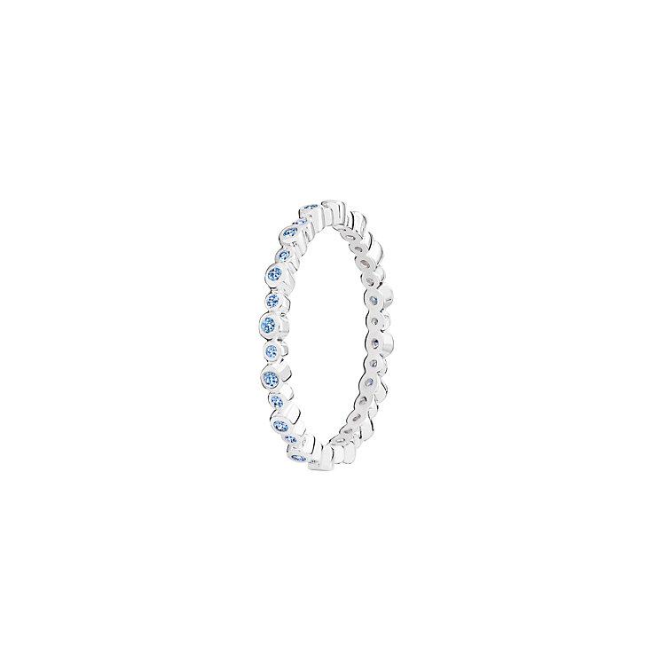 Chamilia Infinity blue Swarovski zirconia ring medium - Product number 3033058