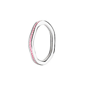 Chamilia Tranquility pink Swarovski zirconia ring large - Product number 3033511