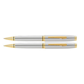 Cross chrome and gold tone ballpoint pen & pencil set - Product number 3048012