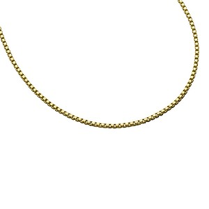 9ct Gold Box Chain Necklace
