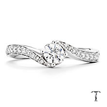 Tolkowsky platinum 0.50ct I-I1 diamond twist ring - Product number 3049655