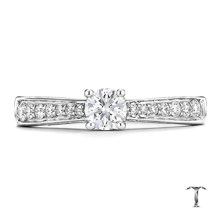 Tolkowsky platinum 0.50ct I-I1 diamond ring - Product number 3050017
