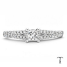 Tolkowsky platinum 0.50ct I-I1 diamond ring - Product number 3050483