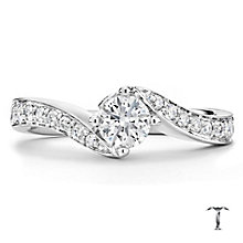 Tolkowsky platinum 0.66ct I-I1 diamond twist ring - Product number 3050637