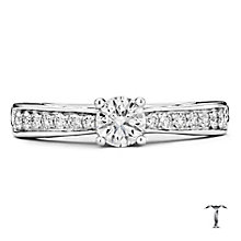 Tolkowsky platinum 0.66ct I-I1 diamond ring - Product number 3050866