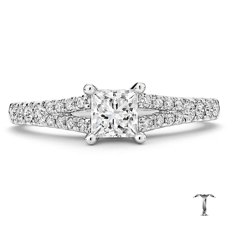 Tolkowsky platinum 0.75ct I-I1 diamond ring - Product number 3051056