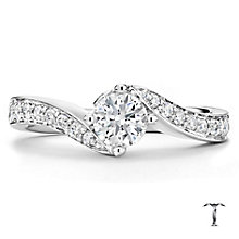 Tolkowsky platinum 1.00ct I-I1 diamond twist ring - Product number 3051617