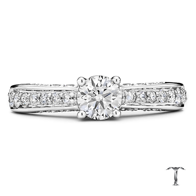 Tolkowsky platinum 1.00ct I-I1 diamond ring - Product number 3051781