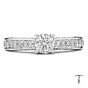 Tolkowsky platinum 1.00ct I-I1 diamond ring - Product number 3051781