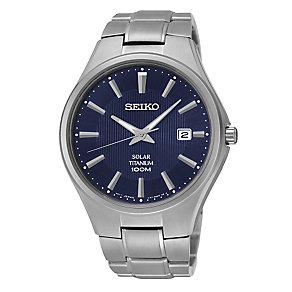 Seiko Solar men's titanium bracelet watch - Product number 3053458