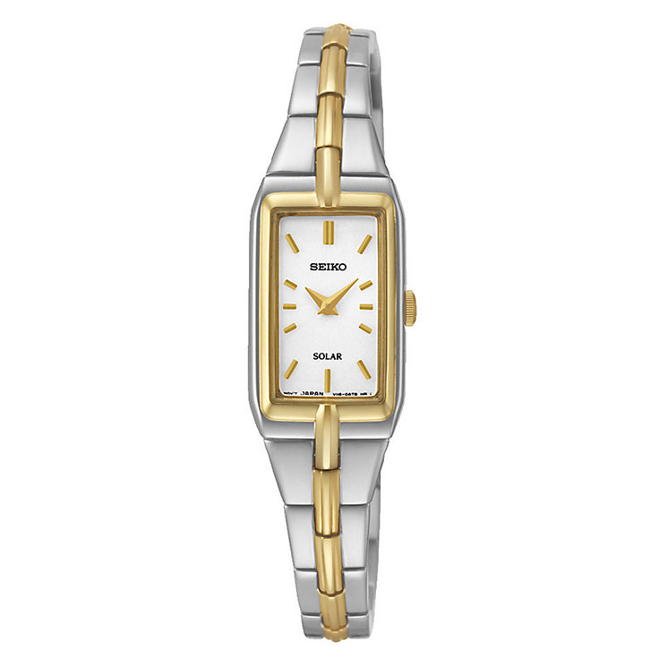Seiko Solar ladies' two colour titanium bracelet watch - Product number 3053474