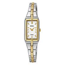 Seiko Solar ladies' two colour titanium bracelet watch - Product number 3053474