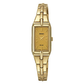 Seiko Solar ladies' gold-plated bracelet watch - Product number 3053482