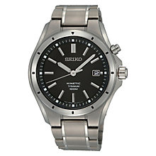 Seiko Kinetic men's titanium bracelet watch - Product number 3053490