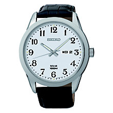 Seiko Solar Men's Stainless Steel Black Strap Watch - Product number 3053865