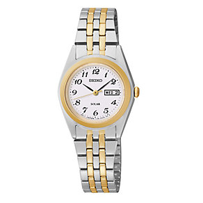 Seiko Solar ladies' two colour bracelet watch - Product number 3054071