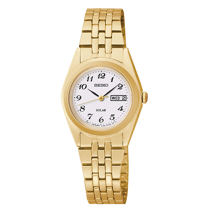 Seiko Solar ladies' gold-plated bracelet watch - Product number 3054306