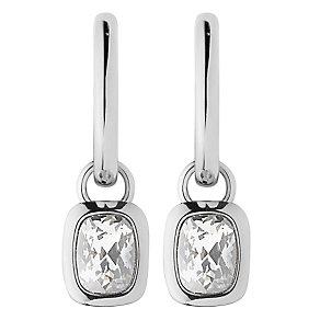 Dyrberg Kern Tiana Sterling Silver Hoop Drop Earrings - Product number 3055183