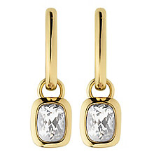 Dyrberg Kern Tiana Gold-Plated Hoop Drop Earrings - Product number 3055191