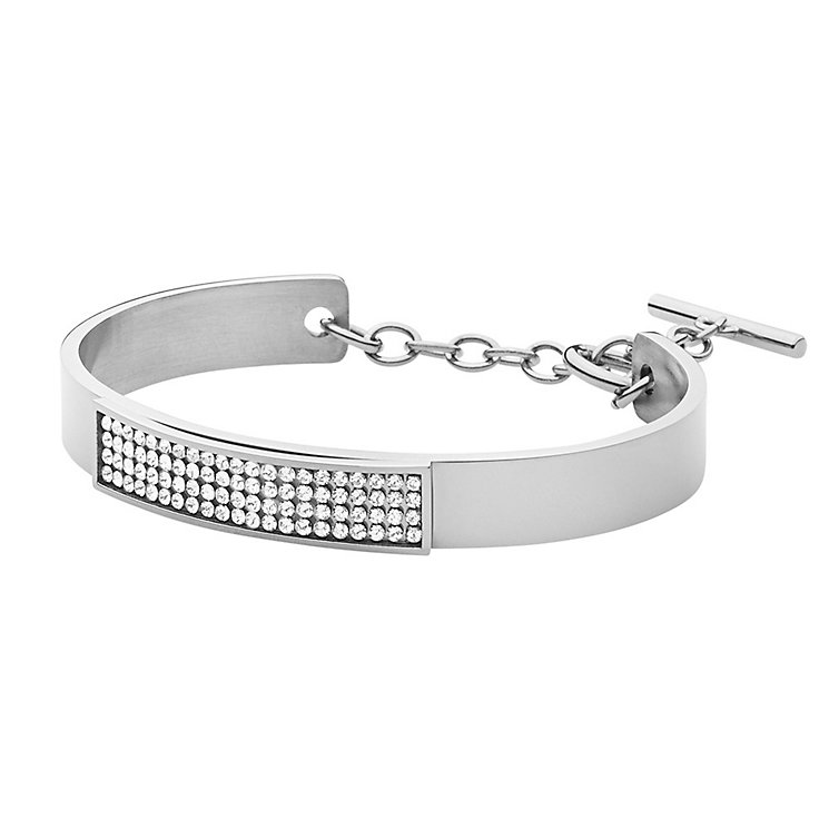 Dyrberg Kern Ventia Sterling Silver Crystal Bangle - Product number 3055213