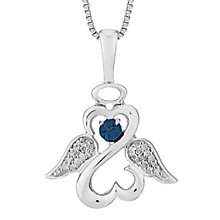 Open Hearts Angels By Jane Seymour Diamond Sapphire Pendant - Product number 3055442