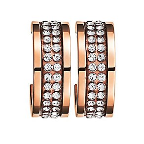Dyrberg Kern Kimmie Rose Gold Plated Crystal Earrings - Product number 3055523