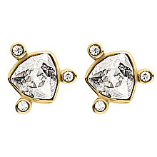 Dyrberg Kern Estelia Yellow Gold Plated Crystal Earrings - Product number 3055590