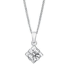 Sterling Silver Children's Present Pendant - Product number 3055841