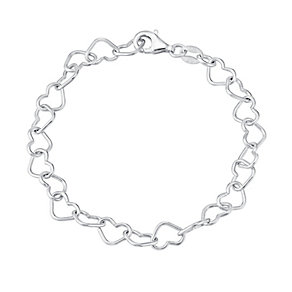Children's Sterling Silver Interlinking Heart Bracelet - Product number 3055957