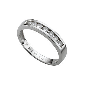 Platinum third carat diamond half-eternity ring - Product number 3056104