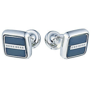 Hugo Boss Robert men's stainless steel square blue cufflinks - Product number 3057240