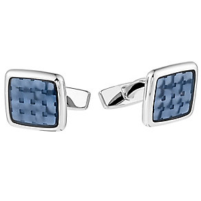 Hugo Boss Peter men's square blue grid cufflinks - Product number 3057313