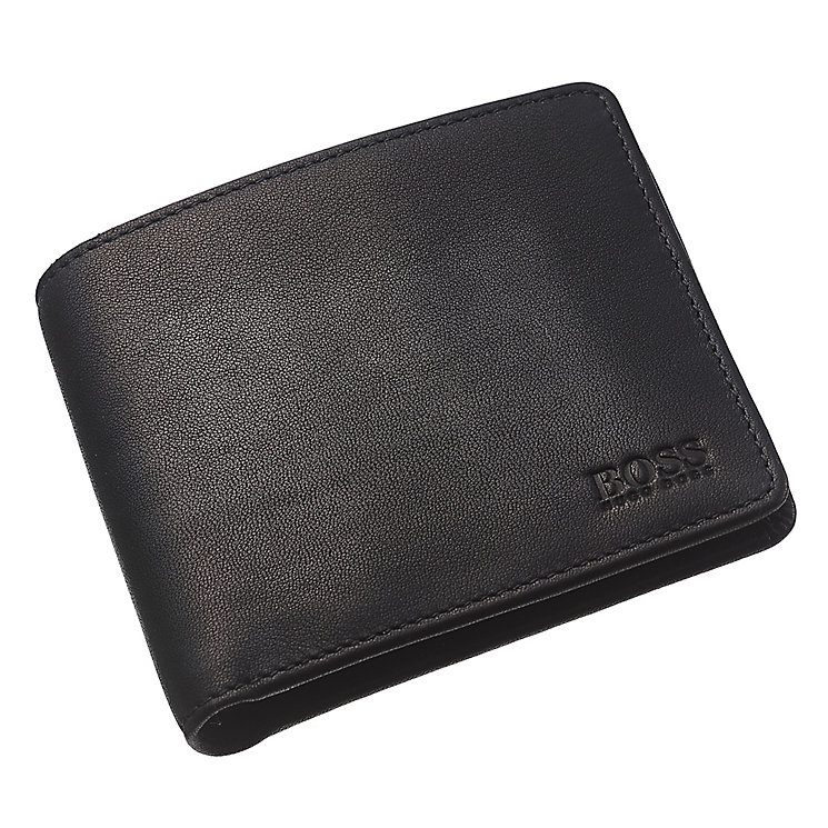 Hugo Boss Bardio men's black leather bifold wallet - Product number 3057348