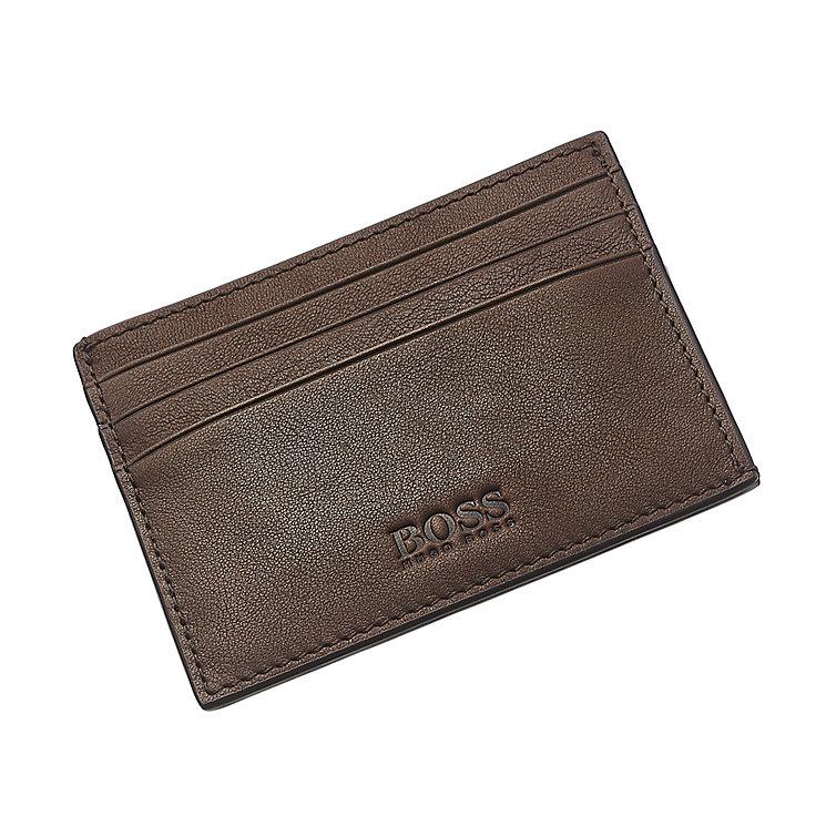 Hugo Boss Barnty men's brown leather card holder - Product number 3057356