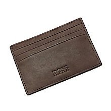Hugo Boss Barnty men's brown leather card holder - Product number 3057356