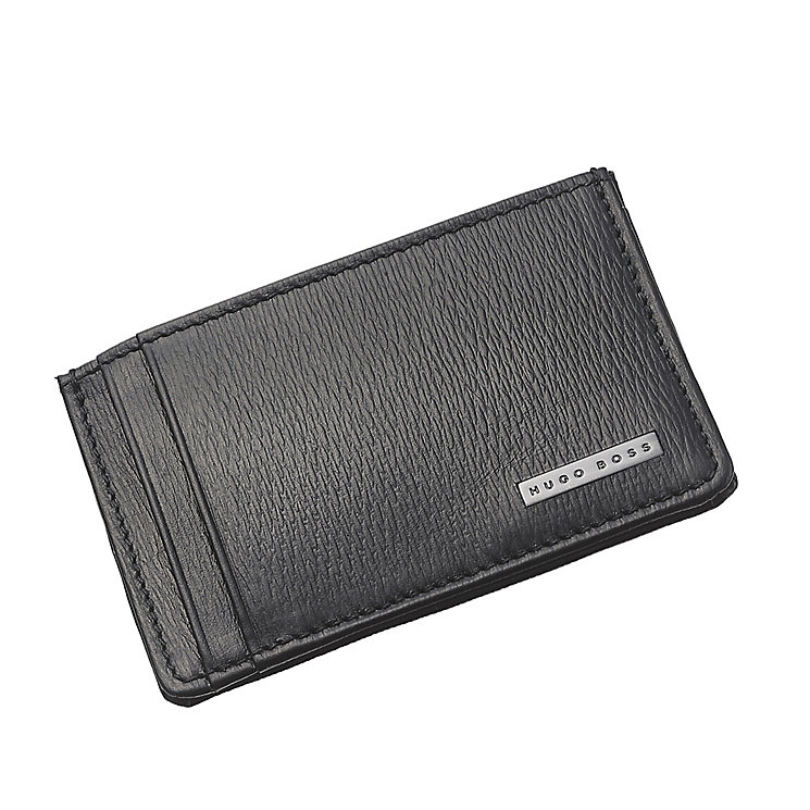 Hugo Boss Luber men's black leather card holder - Product number 3057399