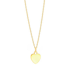 9ct Rose Gold Small Flat Heart Pendant - Product number 3057720